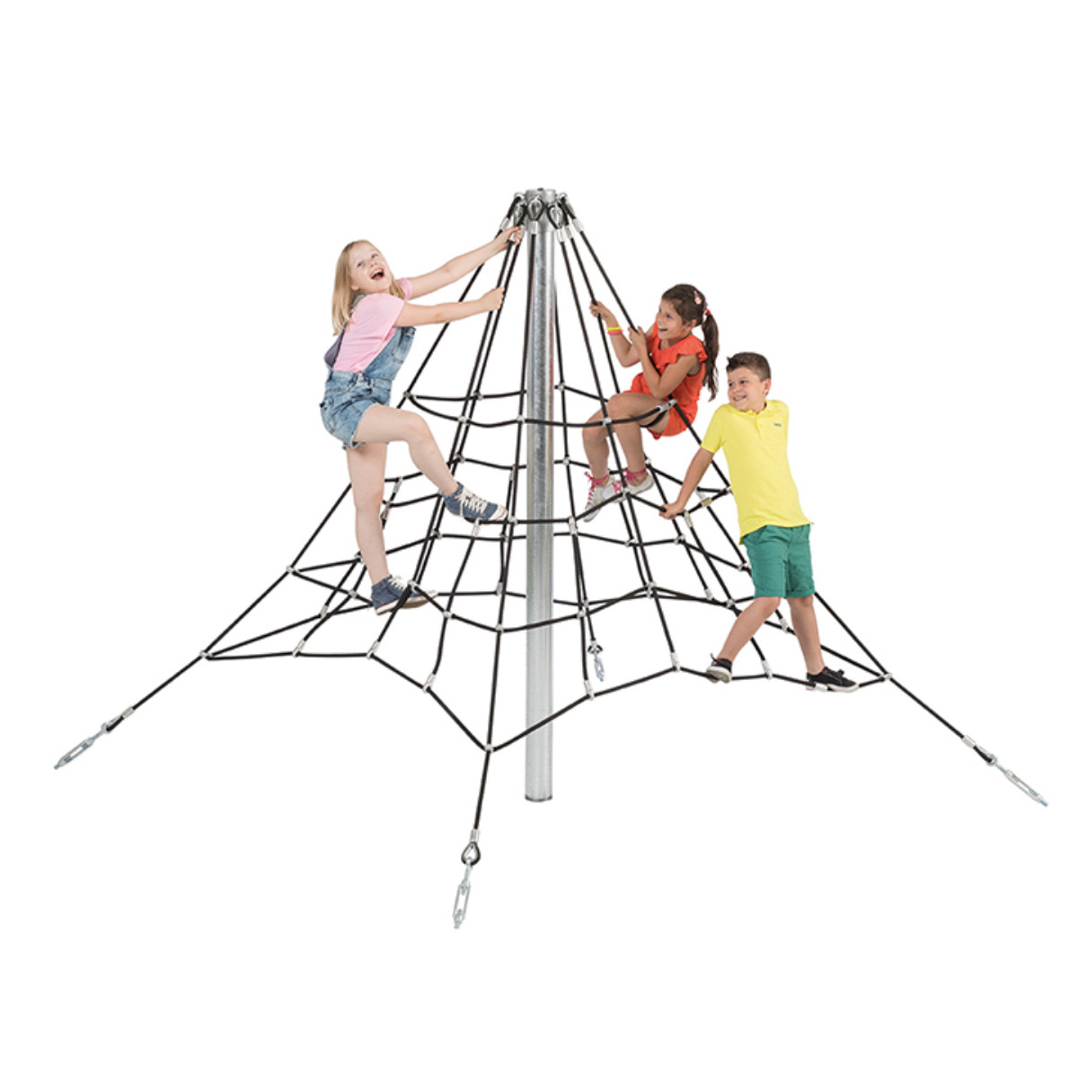 Піраміда з каната 2,0 м для дитячих майданчиків