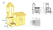 Дитяча ігрова вежа з будиночком Blue Rabbit LOOKOUT + SWING, фото 4