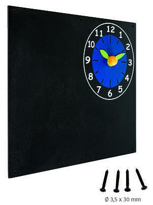 Дошка для крейди з годинником КВТ, 50х60 см, фото 2