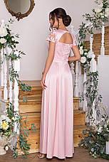 Жіноче довге ошатне випускну сукню розміри:S-XL, фото 3