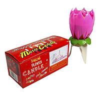 Свеча для торта FLOWER музыкальная 13см 1348349511