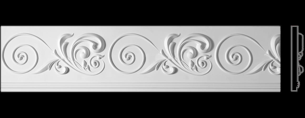 Декоративний фриз з гіпсу, гіпсовий фриз з орнаментом Ф-92 б h215 мм.