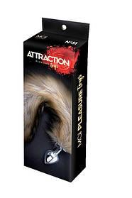 Анальная пробка Лисий Хвост MAI Attraction Toys №51, размер пробки 7х3см, общая длина 50см