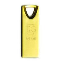 USB флешка Flash Drive 64Gb T&G Metal series TG117GD-64G original Золотиста