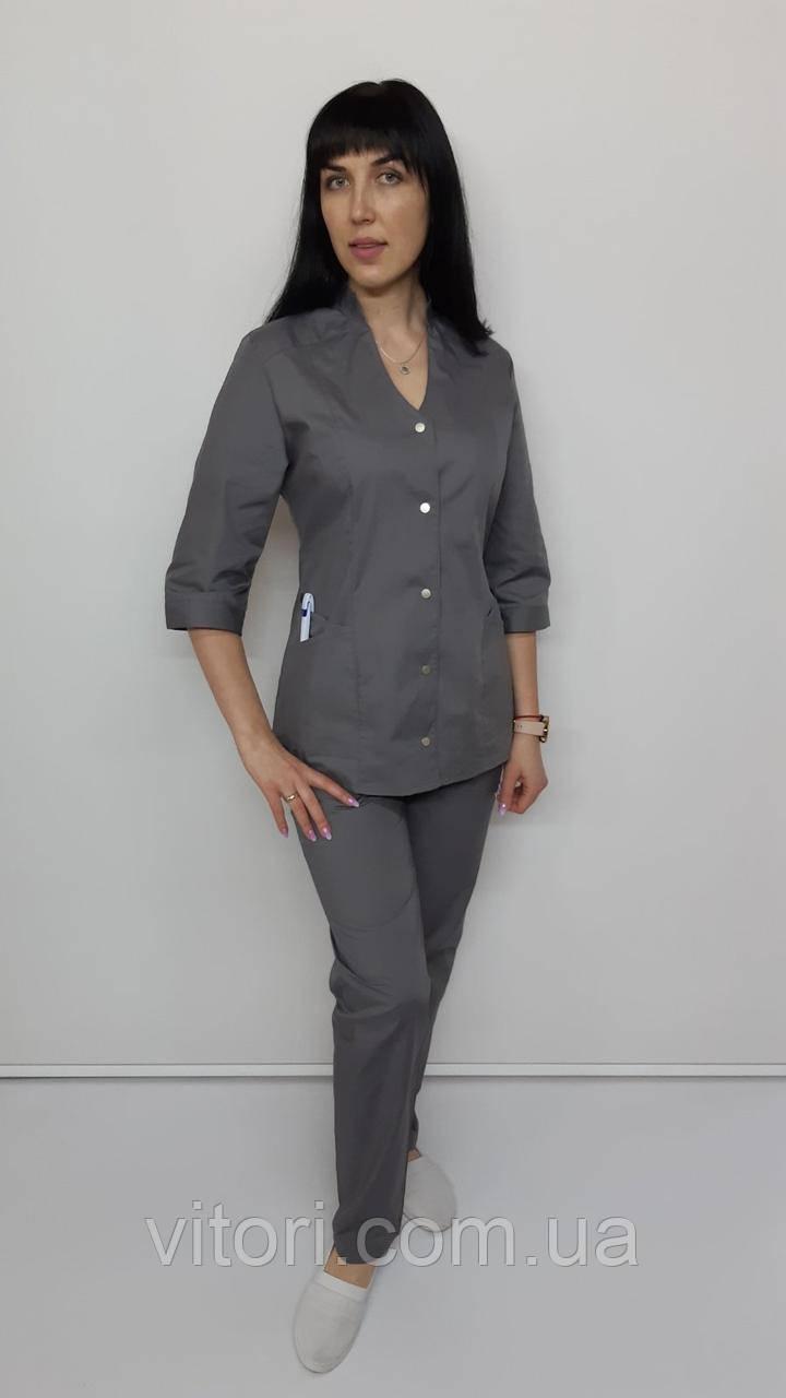 Женский медицинский костюм Тая хлопок три четверти рукав 46 размер