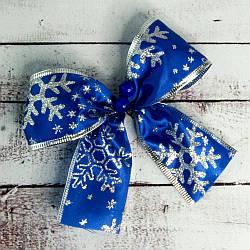 Бант різдвяний синій уп 7шт 9242