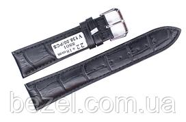 Ремінець для годинника з шкіри Mustang Standart 22 мм, сталева бакля