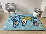 """Безкоштовна доставка! Килимок дитячий """"Карта світу 2"""" 200х290см., фото 3"""