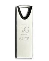 USB флешка Flash Drive 64Gb T&G Metal series TG117SL-64G original Срібляста