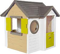 Домик лесника Smoby Toys со ставнями и круглыми окнами (810406)