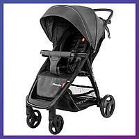 Детская прогулочная коляска - книжка с регулируемой спинкой CARRELLO Maestro CRL-1414 Magnet Grey серая