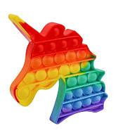 Антистрес - іграшка Pop It Райдужний Єдиноріг Поп Іт, фото 1