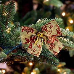 Бант різдвяний лляної 9243