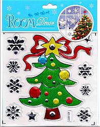 Набір новорічних наклейок Ялинка 9253