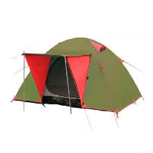 Тримісний намет туристична Tramp Wonder 3 TLT-006.06 (2200х2200х1300мм), червоно-оливкова
