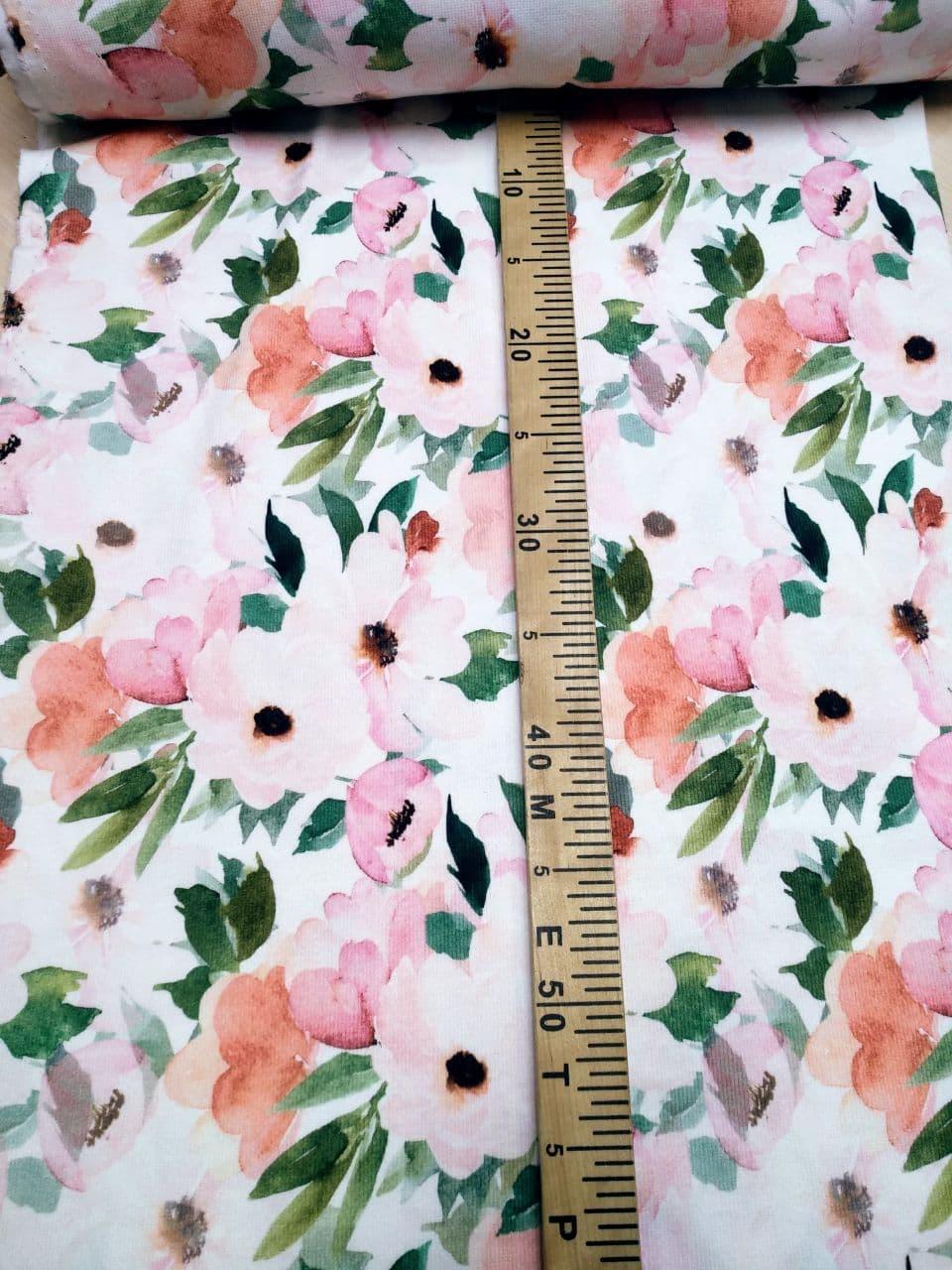 Кашкорсе с рисунком Цветы 95см.
