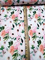 Кашкорсе с рисунком Цветы 95см., фото 1