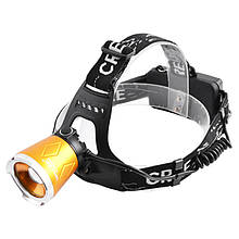 Ліхтар налобний ультрафіолетовий фокусируемый SmallSun UV5866 (XPE+UV, 4 режиму, 1x18650), комплект
