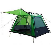 Палатка туристична 4-місцева KingCamp Camp King KT3096 (2400х2100х1570мм), зелена