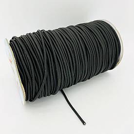 Шнур резиновый эластичный, крепежная резинка для ремонта дуг палаток 3 мм-100 м  в оплетке Турция