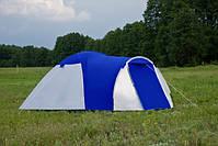Туристическая палатка 4-х местная Monsun Pro 4, клеенные швы, синяя, фото 4