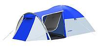 Туристическая палатка 4-х местная Monsun Pro 4, клеенные швы, синяя, фото 8