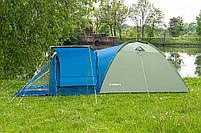 Туристическая палатка Acamper Soliter Pro 4, зеленая, 4-х местная, фото 2
