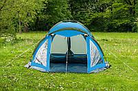 Туристическая палатка Acamper Soliter Pro 4, зеленая, 4-х местная, фото 6