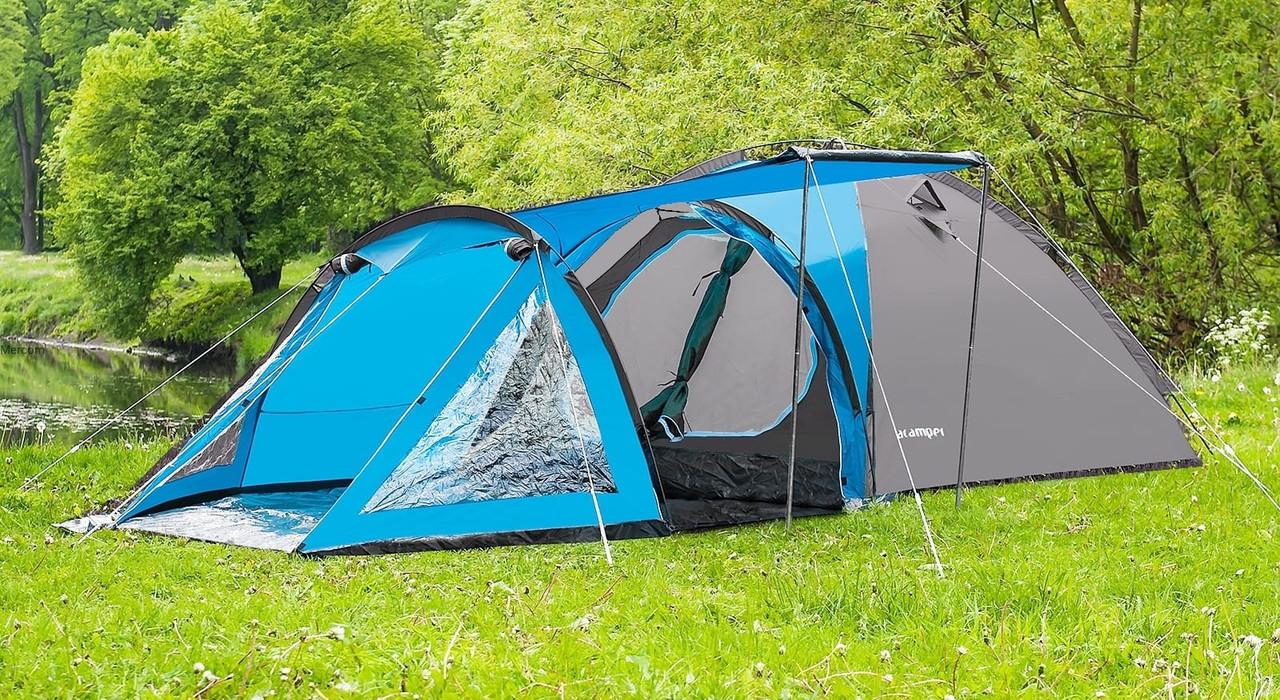 Туристична палатка Acamper Soliter Pro 4, сіра, 4-х місна