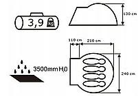 Намет Acamper Acco 4 Pro, 3500 мм, зелена, фото 5