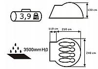 Намет Acamper Acco 4 Pro, 3500 мм, синя, фото 4