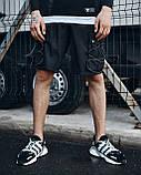 Шорти карго чорні чоловічі рефлективным шнуром Мейсон (Mason) від бренду ТУР розмір S, M, L, XL,XXL L, фото 3
