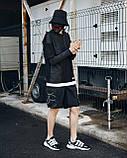 Шорти карго чорні чоловічі рефлективным шнуром Мейсон (Mason) від бренду ТУР розмір S, M, L, XL,XXL L, фото 4
