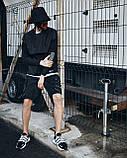 Шорти карго чорні чоловічі рефлективным шнуром Мейсон (Mason) від бренду ТУР розмір S, M, L, XL,XXL L, фото 5