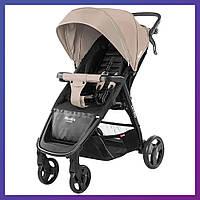 Детская прогулочная коляска - книжка с регулируемой спинкой CARRELLO Maestro CRL-1414 Vanilla Beige бежевая