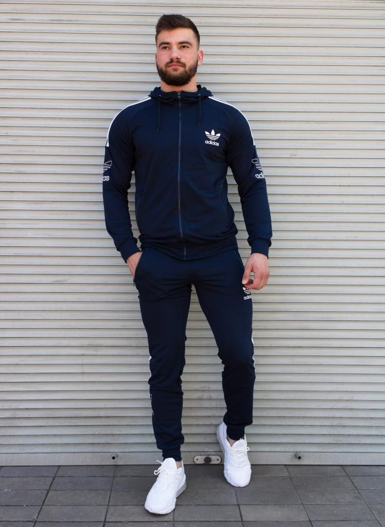 Мужской спортивный костюм синий Сл 1985