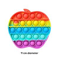 Pop it Яблуко антистрес Apple вічна пупырка, фото 1
