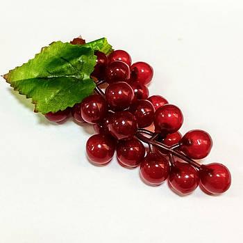 Виноград искусственный 13 см, красный