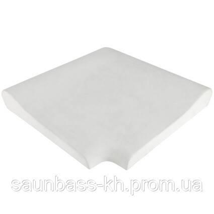 Угловой копинговый камень Aquazone внутренний, 320x400x50-25 мм (белый)