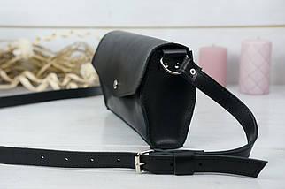 Сумочка Ромбик Шкіра Італійський краст колір Чорний, фото 3