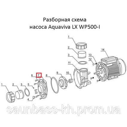 Фланец насоса Aquaviva LX WP500-I