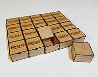 Коробка крафт для ювелирных украшений с логотипом 6х6х4см