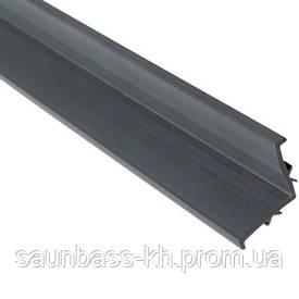 L-подібний профіль Aquaviva PP Gray для переливання решітки, 2000х25 мм