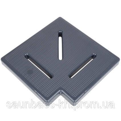 Угловой элемент Aquaviva KK-20-1 Classic для переливной решетки, 90°, 195х25 мм (серый)