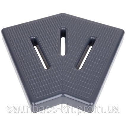 Кутовий елемент Aquaviva KK-20-2 Classic для переливання решітки, 45°, 195х25 мм (сірий)