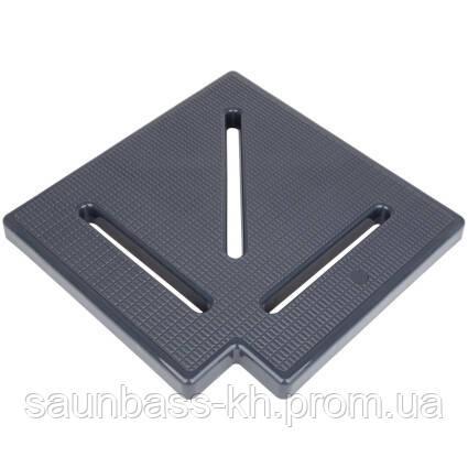 Кутовий елемент Aquaviva KK-25-1 Classic для переливання решітки, 90°, 245х25 мм (сірий)