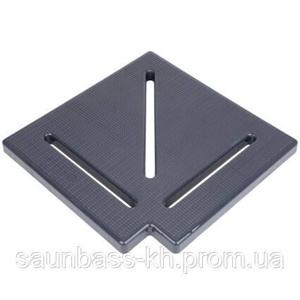 Кутовий елемент Aquaviva KK-30-1 Classic для переливання решітки, 90°, 295х25 мм (сірий)