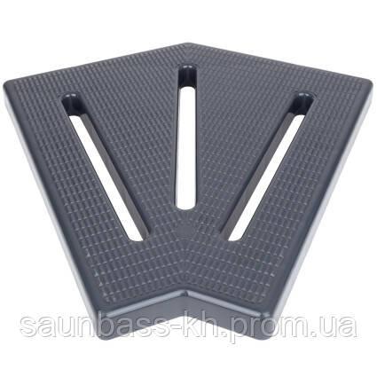 Угловой элемент Aquaviva KK-30-2 Classic для переливной решетки, 45°, 295х25 мм (серый)