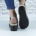 Босоножки женские бежевые эко замша с открытой пяткой и открытым носком (b-685), фото 4