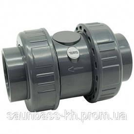 Зворотний клапан ПВХ Effast CDRCVD0160 пружинний, d16 мм